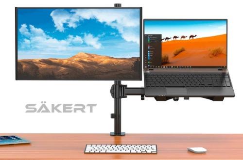 Monitorarm met laptopstandaard Sakert