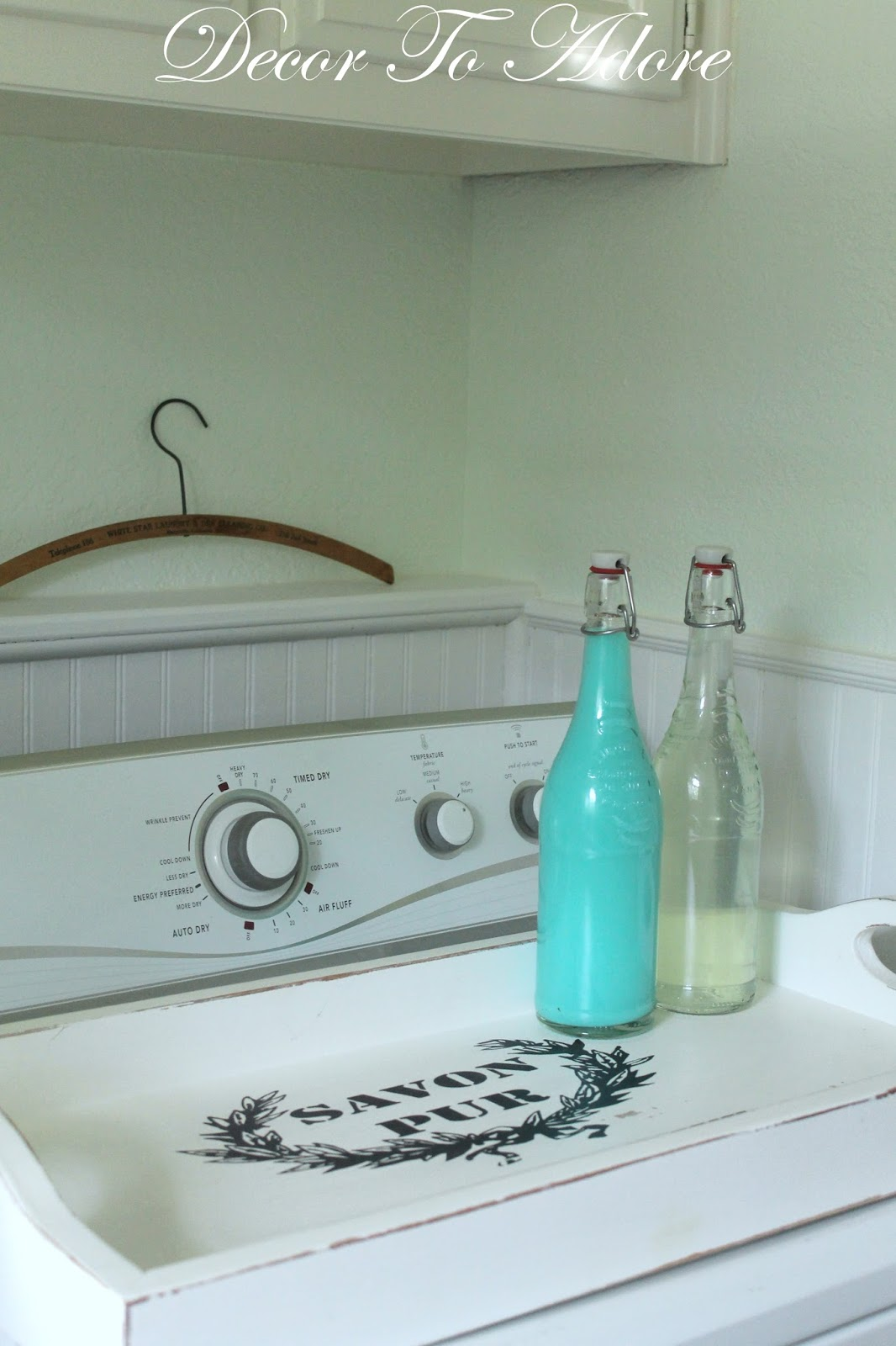 Decorative Laundry Items Decor To Adore A Pretty Storage Solution For Laundry Supplies