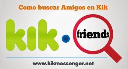 Como encontrar a tus amigos de Kik con su nombre de usuario