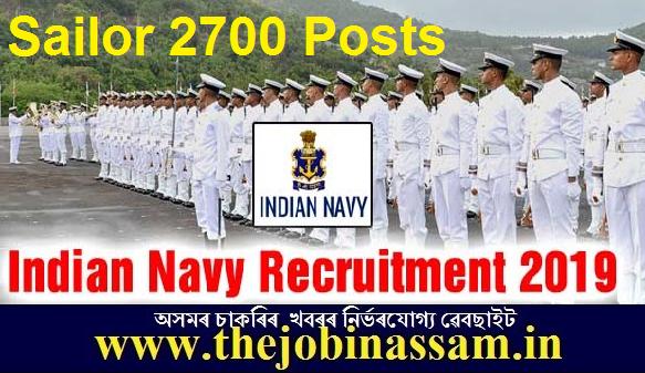 Indian Navy Sailor Recruitment 2019