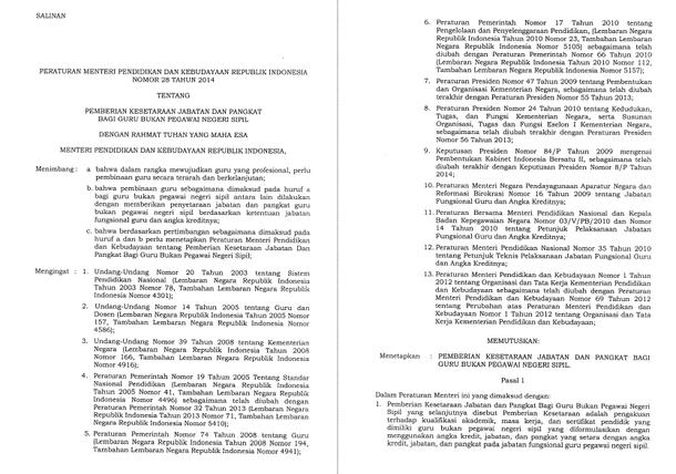 Dasar Hukum dan Mekanisme Penyetaraan Jabatan dan Pangkat GBPNS
