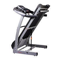 Soft Drop hydraulic folding deck on Sunny Health & Fitness SF-T7514 treadmill
