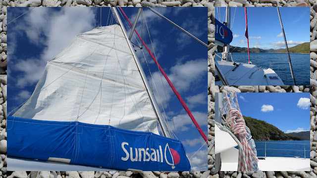 Sailing in the Whitsundays - Raising the Sail