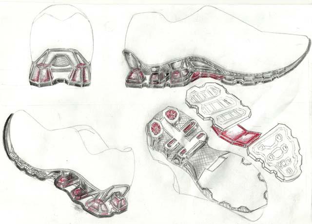 Concept footwear shoe sole design: Trabalhos criativos e
