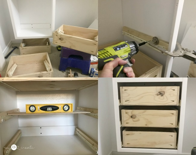 Tip 3: Building and Installing drawers.