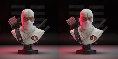 G.I. Joe Storm Shadow Legends in 3D Resin Bust by Diamond Select Toys x Gentle Giant
