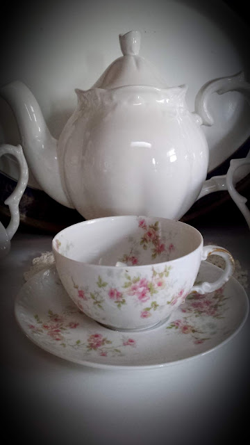 White Teapot & A Rose Teacup... Living From Glory To Glory Blog...