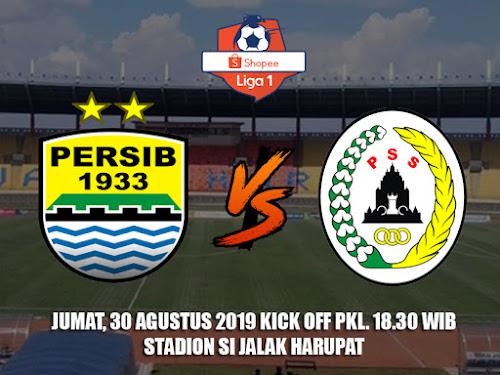 Persib VS PSS Sleman 30 Agustus 2019