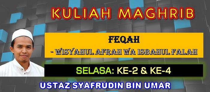 KULIAH MAGHRIB - FEQAH