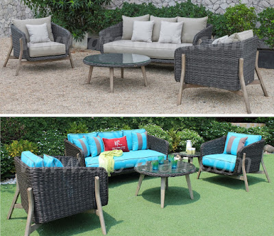 Color changing of a patio outdoor sofa set
