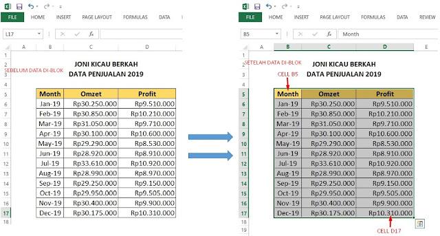 Cara Membuat Grafik di Excel Dengan 2 Data