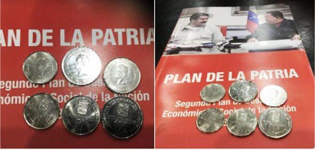 Presidente Maduro presentó las monedas que entrarán en vigencia a partir del 15D