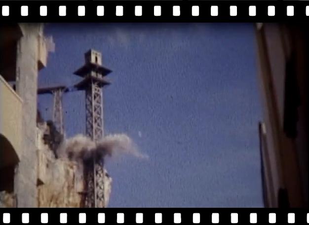 Fine anni '60, la demolizione dell'ascensore dei Balzi Rossi