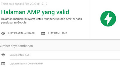 Halaan valid AMP