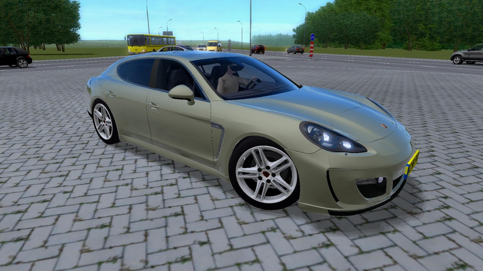 City Car Driving 1 2 5 Porsche Panamera Turbo Remake Car Mod