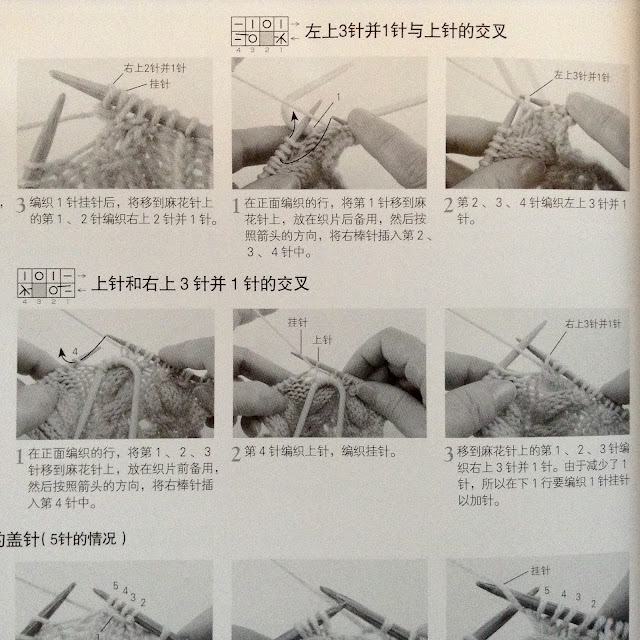 Knitting tutorial in Chinese