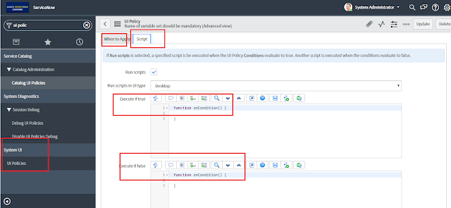 Demonstrate servicenow client side programming