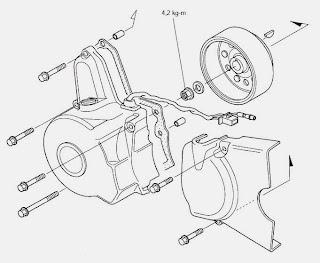 Cara bongkar mesin Honda grand bagian kiri