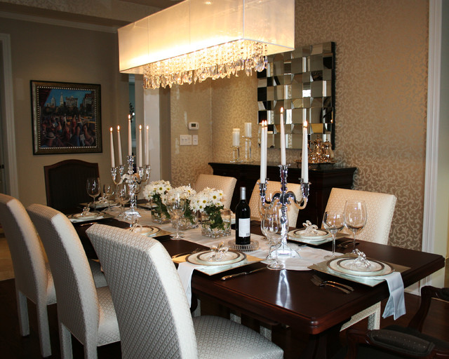 In Traditional Dining Room The Wall Can Be Merely Paintinged When It Comes To One Color Or Wallpaper