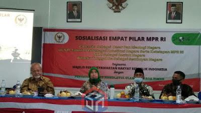 Sosialisasi Empat Pilar di Lombok Timur, Siti  Mukaromah Ajak Pergunu Tumbuhkan Nasionalisme
