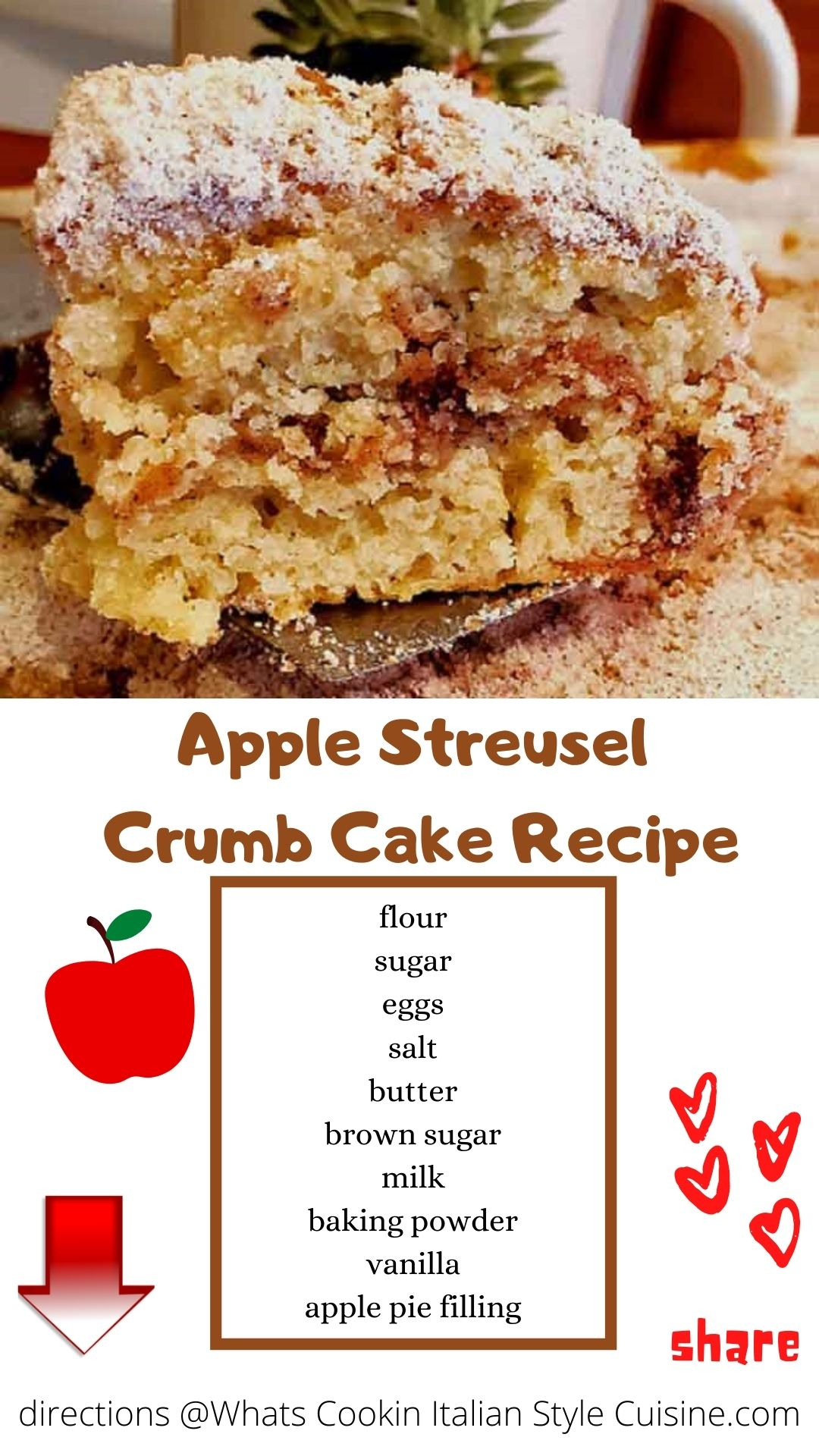 pin for later apple streusel coffee cake