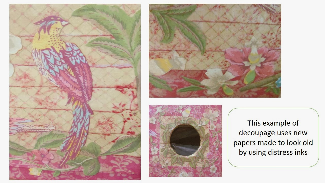 how to decoupage by Pink Flamingo Handcrafting
