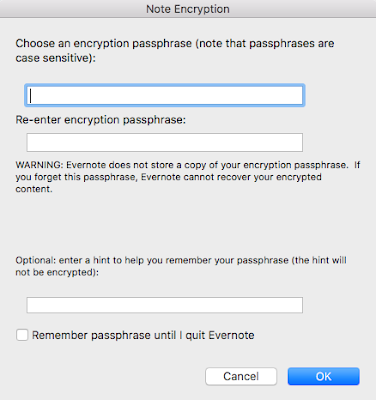 Evernote Encryption