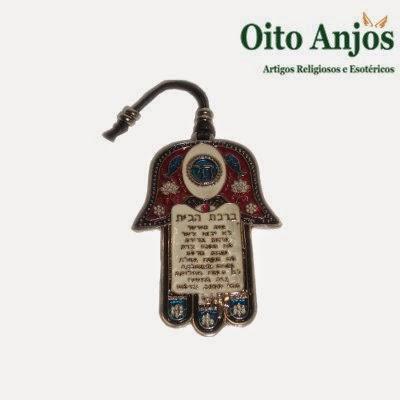 Hamsá - Mão Judaica - Mão de Fátima | Oito Anjos Artigos Religiosos e Loja Esotérica