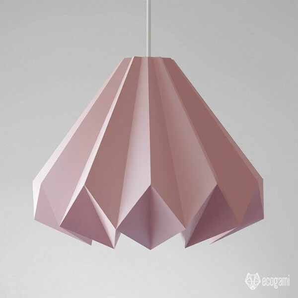 folded paper origami lampshade