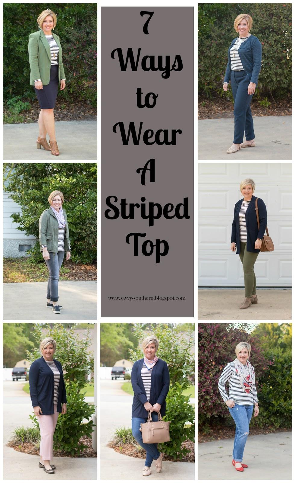 7 ways to wear a striped top