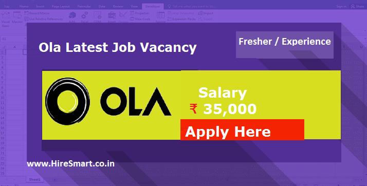 Ola Latest Job Vacancy - Apply Here