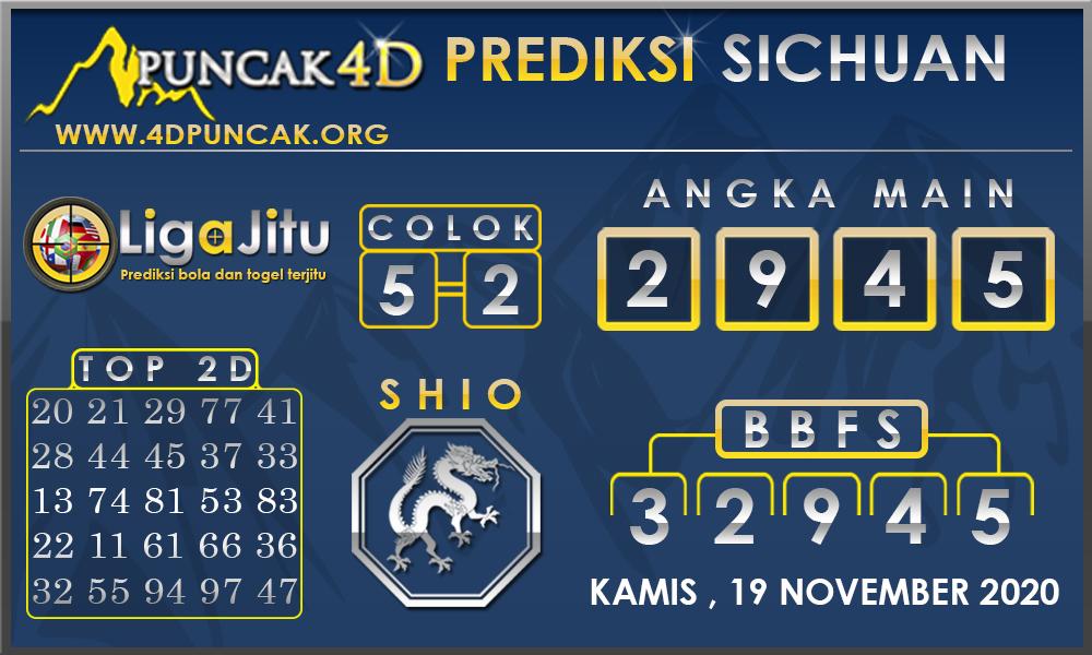PREDIKSI TOGEL SICHUAN PUNCAK4D 19 NOVEMBER 2020