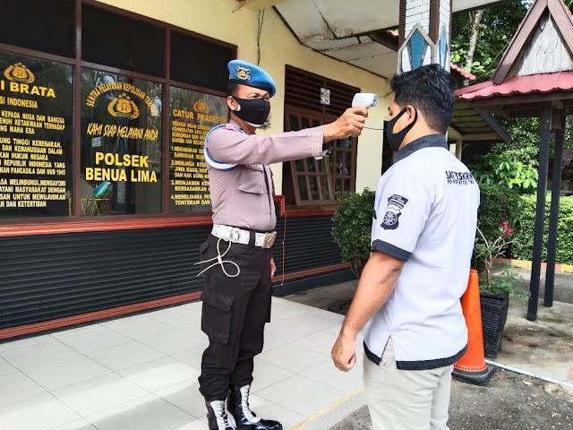 Polsek Benua Lima Laksanakan Pendisiplinan Internal Protokol Kesehatan