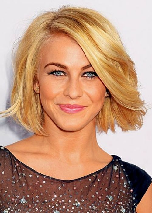 Flattering Hairstyles for Oval Face - Short Bob Blow Out Hairstyle