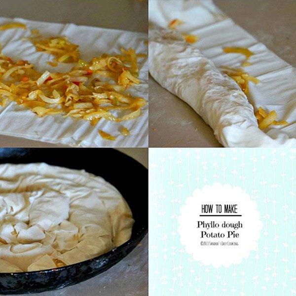 Phyllo dough Potato Pie