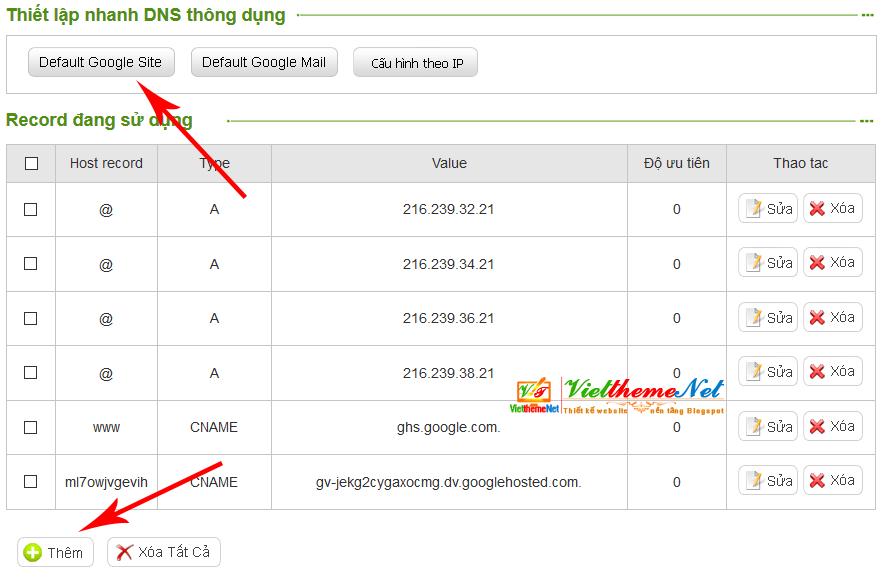 Cài đặt tên miền riêng dạng (.Com, .Net, .Info, .VN, .Com.vn...) cho Blogspot