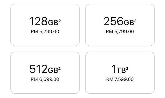kapasiti dan harga iPhone 13 pro max