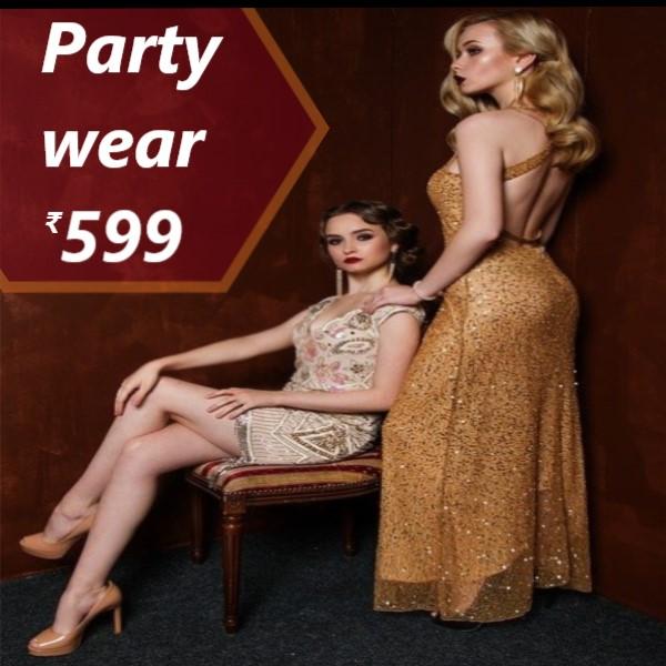 party wear dress under 599