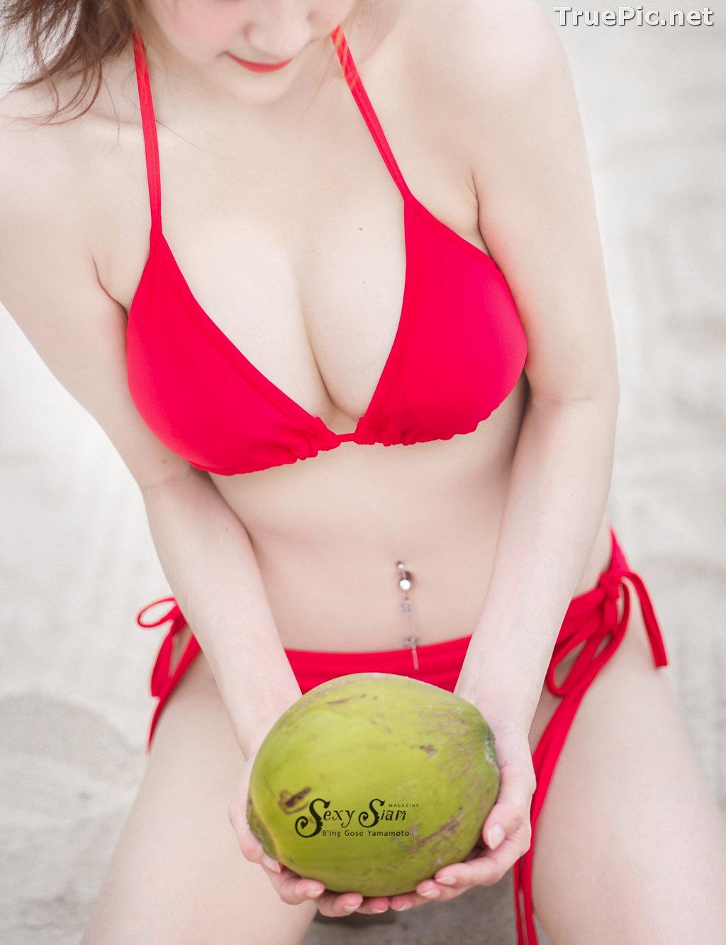 Image Thailand Model - Nitchakan Thongruangkitti - Red Fern Bikini - TruePic.net - Picture-7