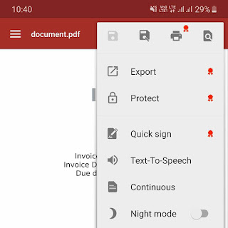 Export document in OfficeSuite app