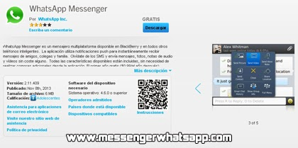 Descarga WhatsApp para Blackberry gratis