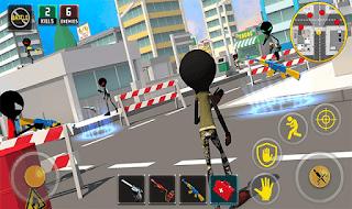 ألعاب بديلة للعبة ببجي موبايل دون انترنت Stickman Battle Royale