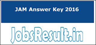 JAM Answer Key 2016