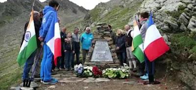 air india crash memorial site in france
