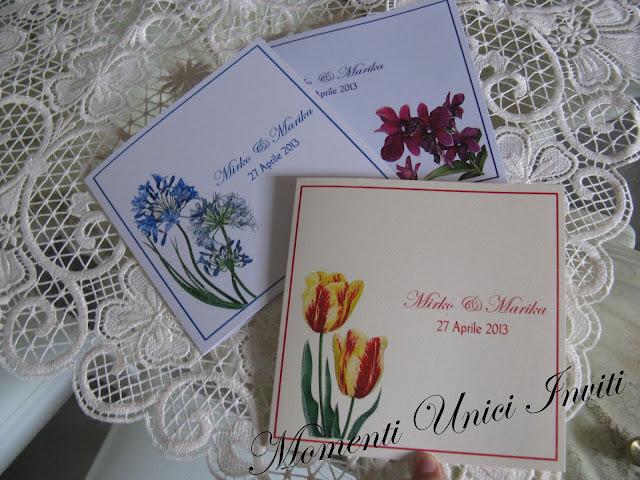 floral Partecipazioni card linea florealeLinea Floreale