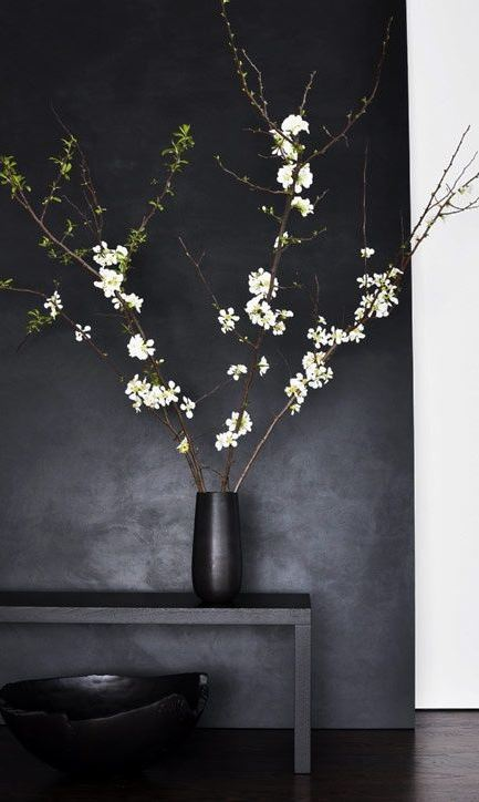 Decorating with blossoms