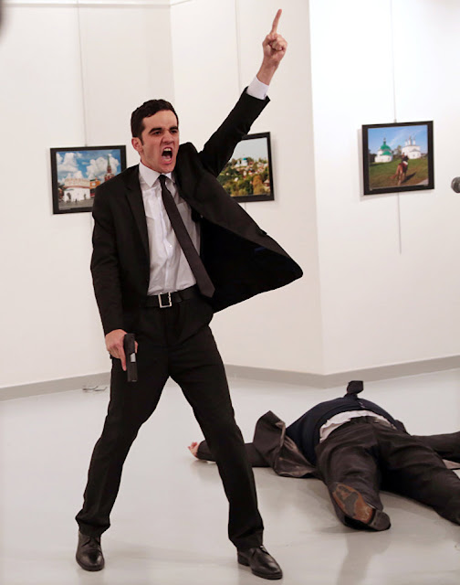 The photo of the murdered Russian ambassador and his killer chosen as World Press Photo of the year