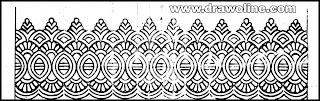 saree border designs images, cutwork design border, banarasi sari border design drawings, how to draw border design