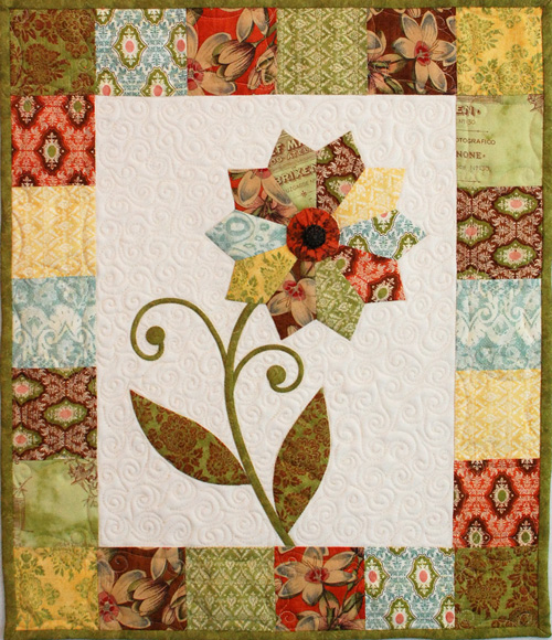Curio Flower Mini Quilt - Free Pattern & Tutorial