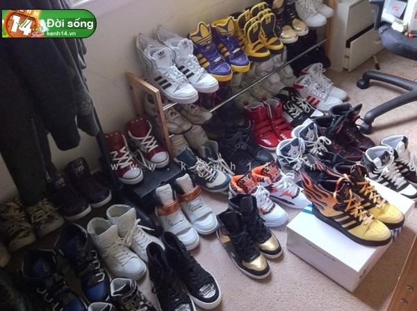 Bộ sưu tập giày sneaker tột đỉnh của anh chàng việt tại mỹ bạn nữ nào cũng m1ê